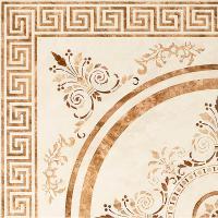 Плитка Click Ceramica BAHREIN ROSETON MARRON 45х45