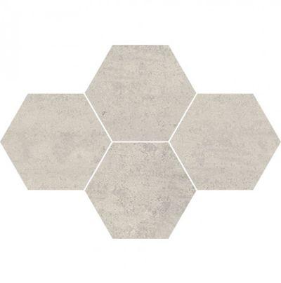 Town Soft Grey Mozaika Heksagon 5903978231429 28,3x40,8