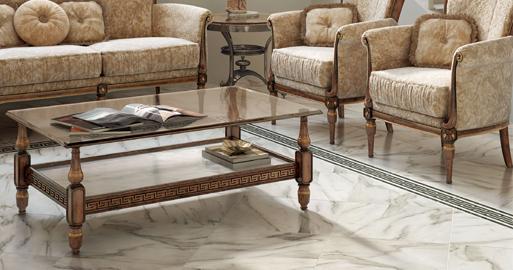 Плитка под мрамор в интерьере: фото 9