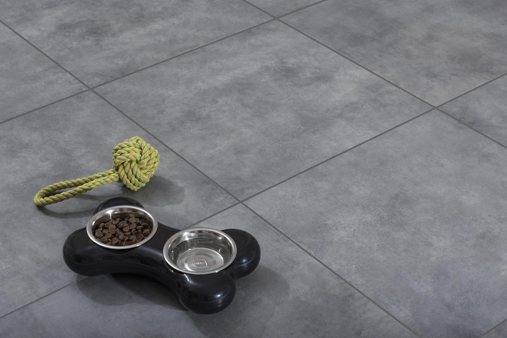 Плитка под бетон в интерьере: фото 9