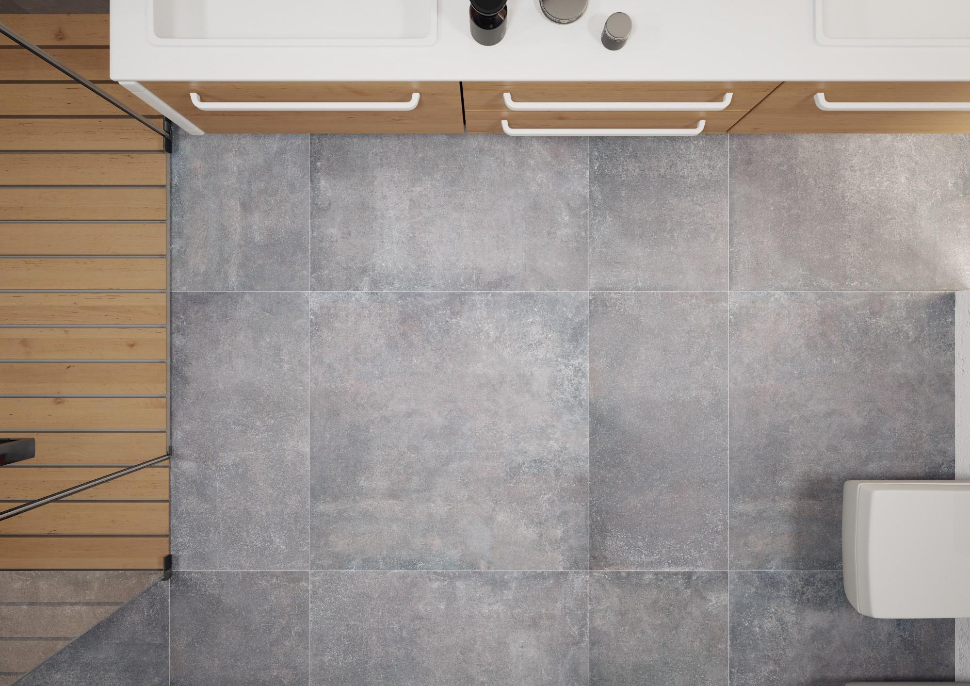 Плитка под бетон в интерьере: фото 3