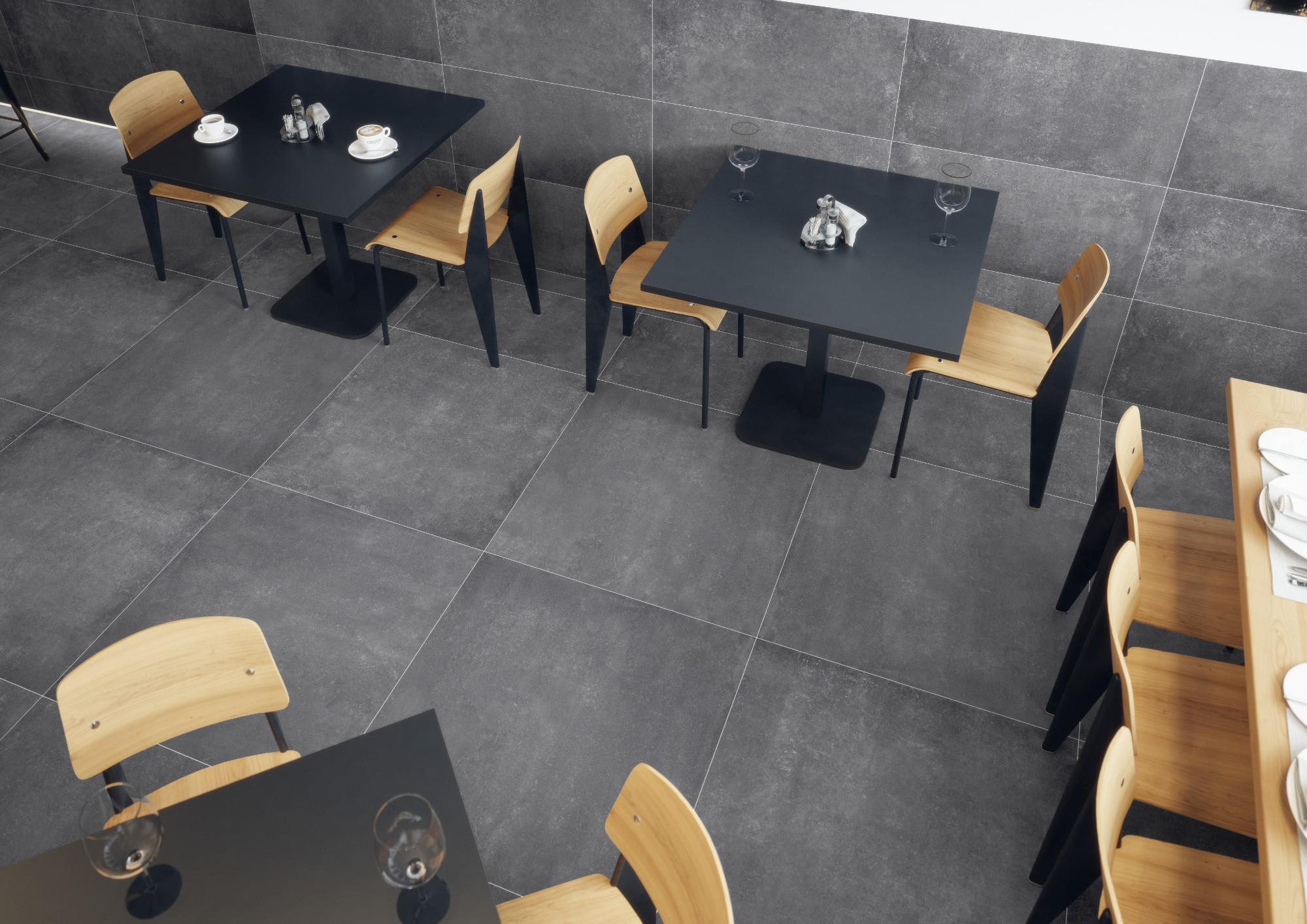Плитка под бетон в интерьере: фото 10