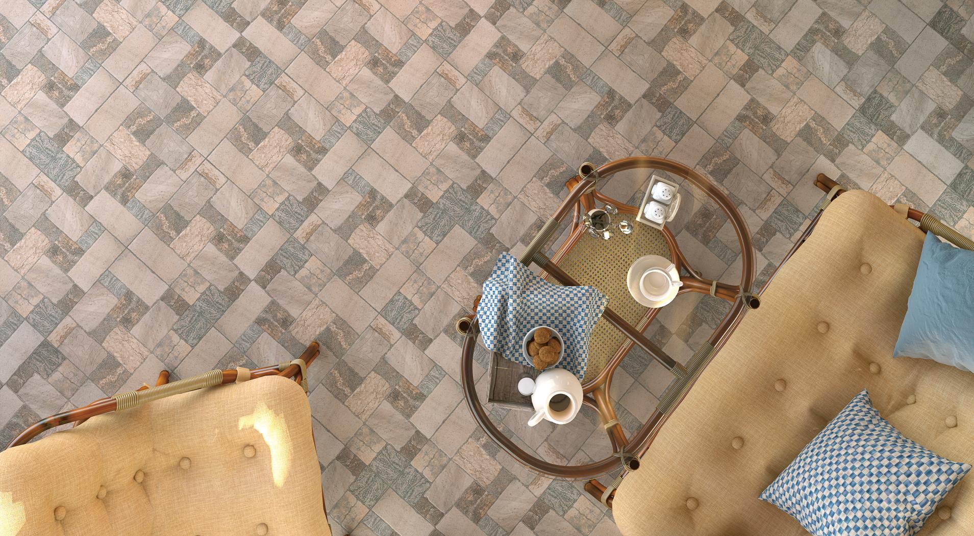 Плитка для пола в интерьере: фото 3