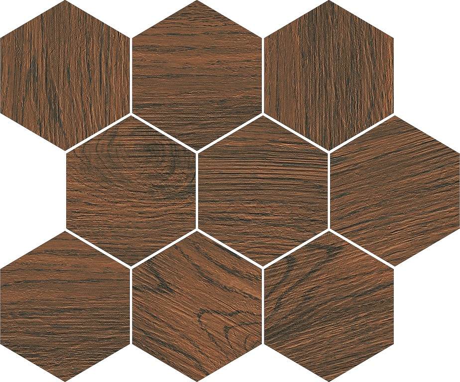 Мозаика Opoczno FINWOOD OCHRA MOSAIC HEXAGON 28X33,7