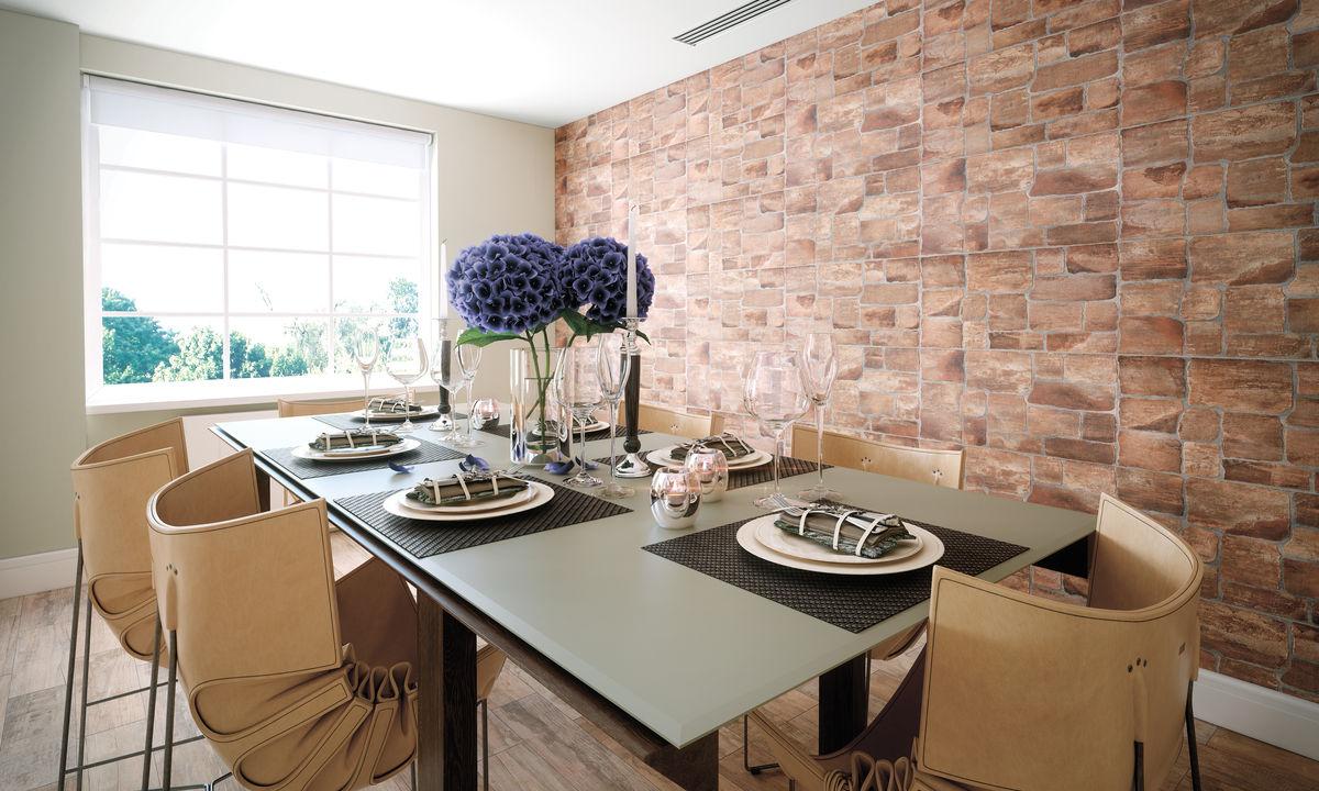 структурная плитка на стене